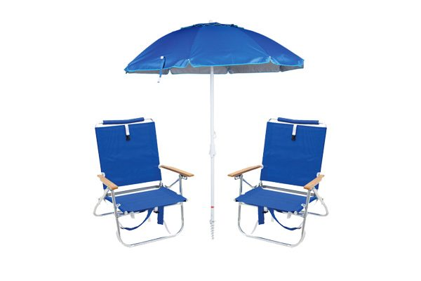 Beach gear package - Umbrella and two chairs