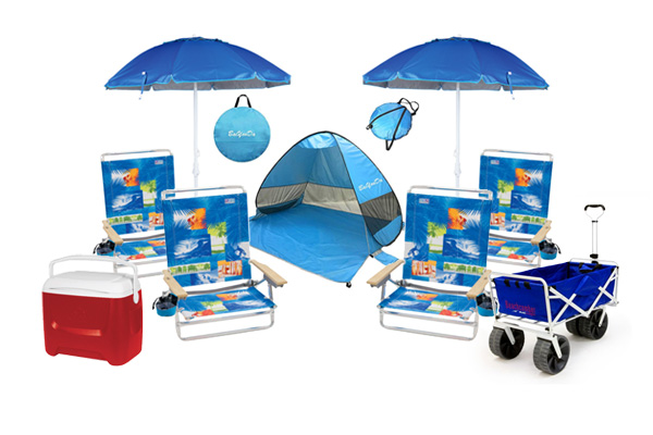 Beach gear rental package