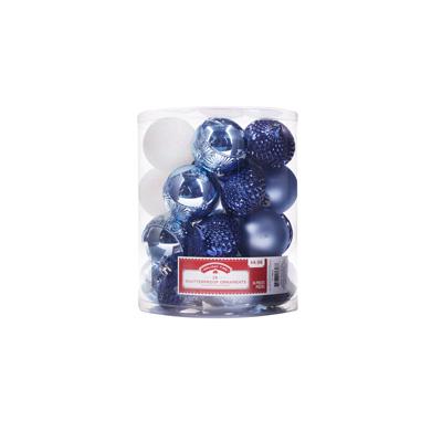 Blue Christmas tree balls